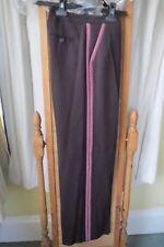 Boden BNWT Femmes Soirée Pantalon Taille 8 Violet Foncé/Rouge Avec Piping