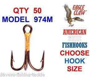 50 x Size #6 Long Shank Hooks Saltwater Freshwater Fishing Tackle Bulk
