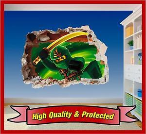 Lego Ninjago Lloyd Hole in Wall - Printed Vinyl Sticker Decal Childrens Bedroom