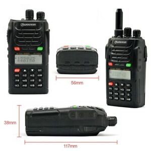 2PCS WOUXUN KG-UVD1P Dual Band Two Way Radio with 1700mAh battery Walkie Talkie