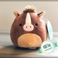 "KellyToy Squishmallow 5"" Inch Brisby the Brown Horse NEW HTF Farm Squad Plush"