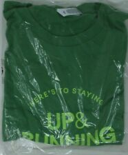 eBay Up & Running promotional t-shirt Size L green on green