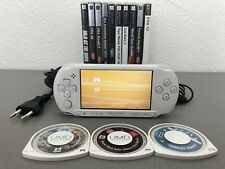 Psp street sony e-1004 white charger 13 games 1go memory card very good condition