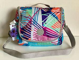 NEW! KIPLING KICHIROU FIESTA PRINTED LUNCH BAG SLING CROSSBODY PURSE SALE