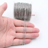 1.5-4.5mm In bulk Stainless steel joint flattened chain Jewelry finding Marking