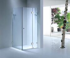 SHOWER SCREEN Square Frameless Glass Safety Toughened 900x900x1950