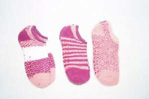 Slipper Sock Ankle Sock Trio - One Size - Orange / Red / Wine