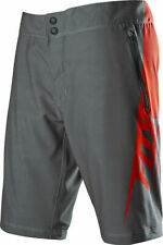 FOX RACING LIVEWIRE MTB SHORT, GREY/RED, EVO CHAMOIS SIZE 38