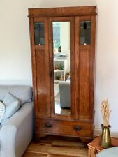 More details for vintage arts and crafts style hallway wardrobe