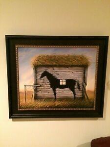 vladimir kush art Black Horse edition 311/325 print 21x26 framed 29x34