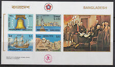 More details for bangladesh :1976 bicentenary of american revolution ms imperf sg ms84 mnh