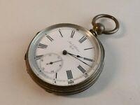 Antique  fine silver pocket watch kleiser york