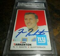 RARE SIGNED 1969 TOPPS #150 FRAN TARKENTON AUTO PSA/DNA LOW POP
