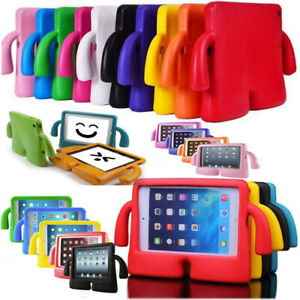 Shockproof TV Shape Silicone Rubber Kids Handle Back Cover Stand Case For iPad
