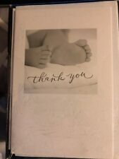 Nib Carlton Baby Thank You Cards - 50 Cards & Envelopes Unisex Baby Feet Design