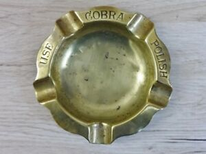 Antique Brass Cobra Ashtray