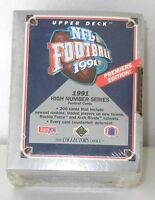 "1991 UPPER DECK FACTORY SEALED ""HIGH NUMBER SERIES"" 200 FOOTBALL CARD SET"