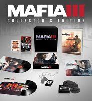 NEW Mafia III 3: Collector's Edition (Microsoft Xbox One, 2016)