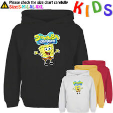 SpongeBob Squarepants Pattern Kids Hoodie Childs Sweatshirt Girls Boys Hoody Top
