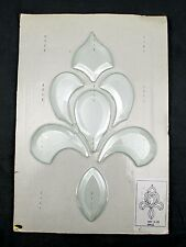 "Stained Glass Art Kit - Clear French Fleur de Lis Flower - 8"" x 11"" - ARC A-20"