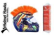 Helmet Hawks ™ Mohawk Fluorescent Orange Motorcycle Bike BMX Helmet Mohawks
