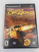 Test Drive Off Road Wide Open PS2 Sony PlayStation 2 Complete 2001 Tested