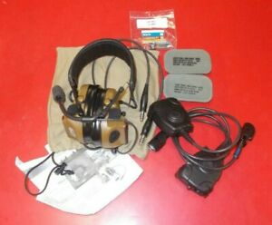 3M Peltor COMTAC III ACH Tactical Communication Headset - dual Comm-Coyote Brown