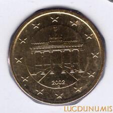 Allemagne 2002 50 centimes G Karlsruhe BU FDC provenant coffret 135000 exemplair