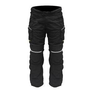 ARMR Moto Kumaji 2 Waterproof Motorcycle Motorbike Trouser - Black Fluo