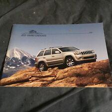 2008 Jeep Grand Cherokee Color Brochure Catalog Prospekt