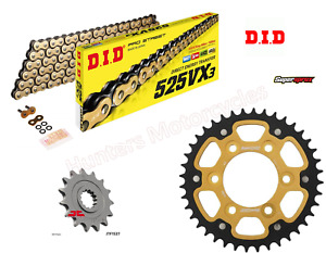 DID Gold X-Ring Chain and SuperSprox Stealth Sprocket Kit for Kawasaki Z1000SX