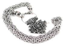 York Hiddensee Mjolnir Thor's Hammerr pewter Pendant on Dragon Chain  NEW!