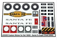Replica Pre-Cut Transparent Sticker for set 10020 - Santa Fe Super Chief