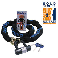 Oxford 2M*9.5MM HD Motorbike Chain Lock Padlock Sold Secure Motorcycle Disc Lock