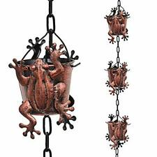 Tfro Cile Frog Rain Chain Gutter Downspout Substitution Decorative Garden Rain