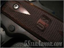 1911 FULL SIZE MARKED U S ROSEWOOD DOUBLE DIAMOND CHECKERED GRIPS SPRINGFIELD