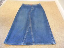 MARKS and SPENCERS PER UNA SIZE 8 DENIM SKIRT HOLIDAY COLLEGE