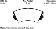 EBC Redstuff Ceramic Brake Pad Set Front for Cadillac / Chevrolet / Saab / Buick