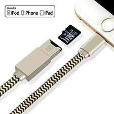 USB i-Flash Drive Data Cable Memory TF MicroSD Card Reader for iPhone 6 6S iPad