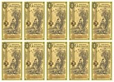 (10 count) 1 Utah Goldback Aurum Gold Foil Note 1/100 oz 24KT ($4.95 each)