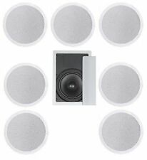 "8 FLUSH MOUNT IN-CEILING SPEAKERS 7.1 HOME THEATER SURROUND SOUND 8"" SUBWOOFER"