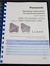 PANASONIC LUMIX TZ80 CAMERA PRINTED USER MANUAL GUIDE HANDBOOK 406 PAGES A5