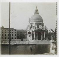 Venezia S. M.Della Salute Italia Foto Stereo Th2n1 Placca Da Lente Vintage
