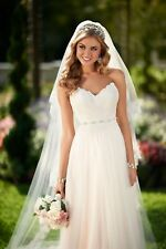 BNWT Stella York Strapless Ivory Lace Tulle Wedding Dress Size 10 6025 RRP £900