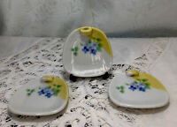 Set of 3 Beautiful plate floral design  Porcelain Chopstick Holder Rest