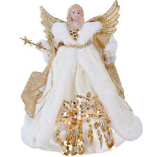 30cm Traditional Gold Angel Fairy Xmas Christmas Tree Topper Ornament Decoration
