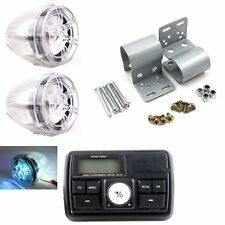 12V ATV UTVMotorcycle Bluetooth MP3 Motorcycle High Output Speaker Stereo System