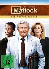 MATLOCK SEASON 5 REPLENISHMENT - GRIFFITH,ANDY/STAFFORD,NANCY/+ 6 DVD NEU