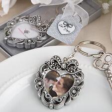 25 - Vintage Heart Photo Key Chain - Wedding Favors - Free US Shipping