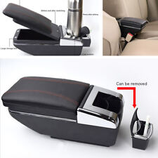 High Quality PU Leather Car Truck Central Container Armrest Box Bottle Holder*1